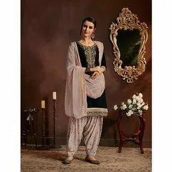 Party wear Ladies Round Neck Salwar Suit