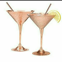 Copper and brass Wine Glass