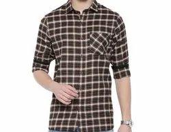 6T9 Cotton Check Printed Shirt