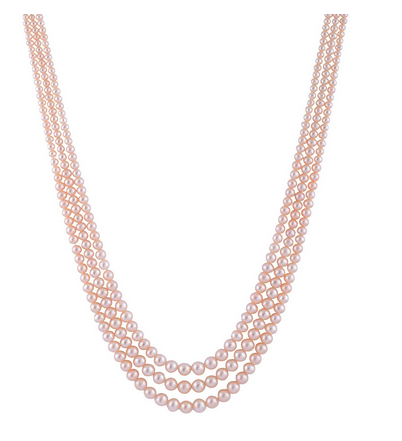 1344cddf5d6ded Swati Pearls&jewellers Pink Pearl Multi-Strand Necklace For Women (RPPG44)