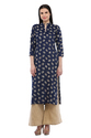 Cottinfab Women's Cotton Kurta With Solid Palazzo
