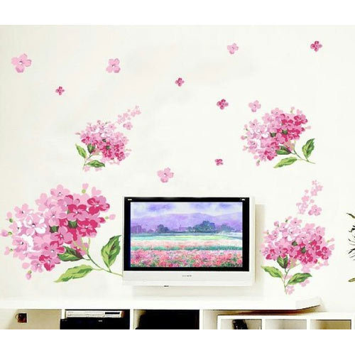 Pink Flower Wall Sticker Angel Wall Decor Wholesaler In