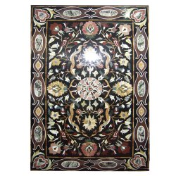 Art Coffee Black Stone Top Marble Table