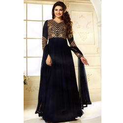 Georgette Party Wear Black Anarkali Suit