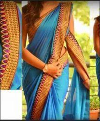 Party Wear Fashion Paper Silk Saree