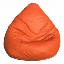 Artificial Leatherete XXL Orange Bean Bag