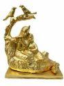 Gold Plated Radha Krishna