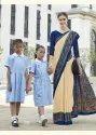 Crepe Silk Uniform Saree