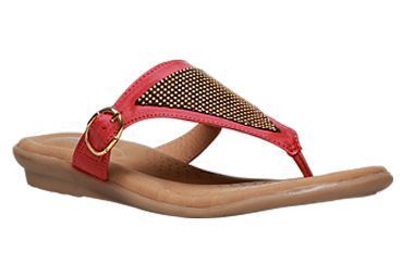 1d1519d24 Formal Leather Bata Comfit Red Chappals For Women F671592500