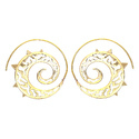 Golden Round Cursive Gold Plated Awesome Designable Fashion Earring