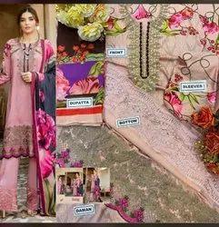 Cotton Semi-Stitched Pakistani suit
