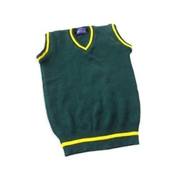 Green And Yellow V Neck Winter School Sweater