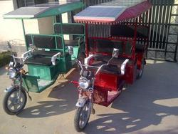 Solar Electric Passenger Rickshaw