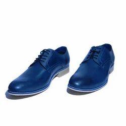 Blue Men Derby Shoes