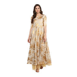 Anarkali Golden Print Kurta
