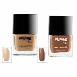 O3  Plunge Dark Coffee and Macchiato Nail Paint Polish Lacquer Color Shade Combo Pack