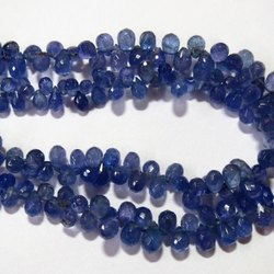 Tanzanite Faceted teardrop gemstone beads