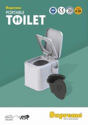 Supremo Top opening Potable Toilet Seat, Size/Dimension: 365 X 495 X 450 Mm, Packaging Type: Box