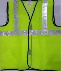 Reflective Safety Jacket for Traffic Control, Size: Medium