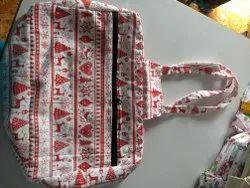 Printed Cotton Ladies Hand Bag, Size/Dimension: Medium