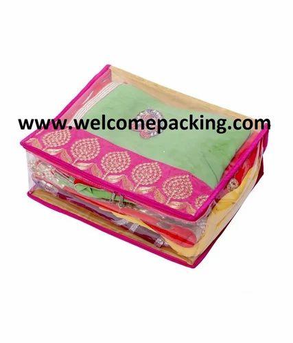 f79e2911fdc Pvc Plain Transparent Saree Cover Bag