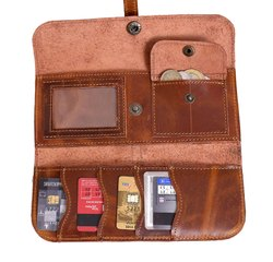 Plain Women''s Trifold Leather Wallet