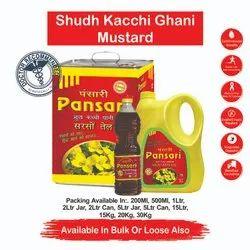 PANSARI Red Mustard Oil, Packaging Type: Plastic Bottle, Packaging Size: 500ml,1ltr and 15 ltr