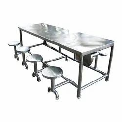 APM Rectangular 8 Seater Stainless Steel Dining Table, Size: 30 X 90 X 30 Inch