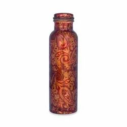 Printed Lacquer modern art copper bottle