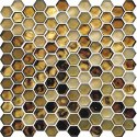 Hexagon Champagne Highlighter Wall Tile