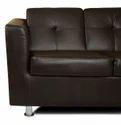 Adorn India Orchid Modular Sofa Set Leatherette (Black)