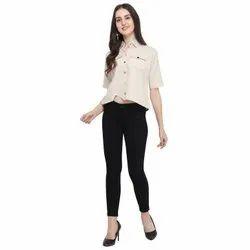 Half Sleeve Checks Khadi Cotton, Semi-formal
