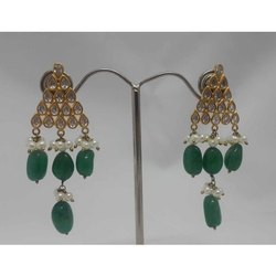 Emerald Gold Earring