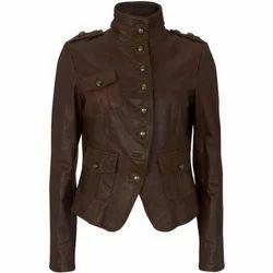 Brown Ladies Stylish Jacket