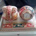 Sitting Ganesha Handmade Marble Decorative Gift Item For House Warming