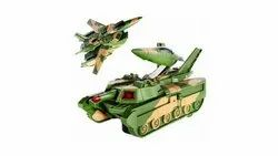 Plastic 2 in 1 Transformer Tank Aircraft, Child Age Group: 3+ Years