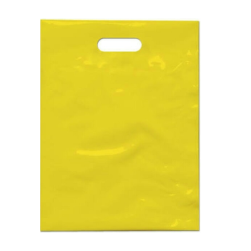 Plain Yellow LDPE Plastic Bag, Thickness: 4 - 100 microns