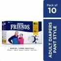 Friends Premium Adult Diaper Pants Medium, Waist 25-48 inch 10s PACK