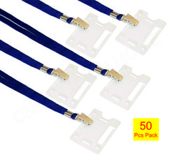 TAPE LANYARDS WITH HOLDERS