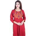 Womens Rayon Embroidered Designer Kurti