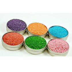 Detergent colour granules