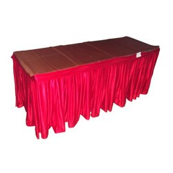 Rectangular Red Table Cover, Size: 2x7 Feet