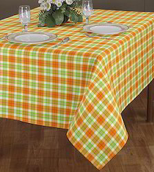 Woven Checks Table Cloth