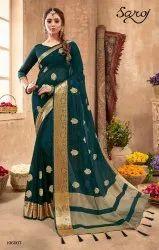 Designer chiffon silk saree