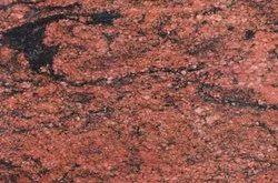 Slab Bush Hammered North Indian Red Multi Granite, Thickness: 16 mm