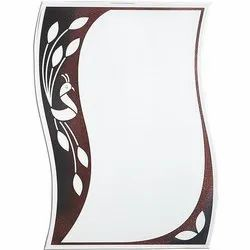 Wavy Shape Decorative Glass Mirror