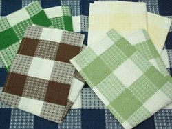 Cotton Check Stock Checked Kitchen Towels, For Household Uses, Wash Type: Hand Wash