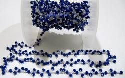 Hydro Quartz Lapis Beaded Chain