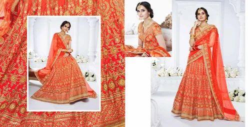 5dddc349bef56 Net And Silk Heavy Bridal Lehenga Choli