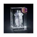 Crystallyze 3d Photo Crystal Gift, Size: 60x60x100mm